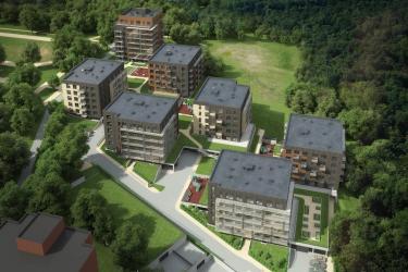 Pradėta daugiabučių namų kvartalo Veikmės Parko namai statyba