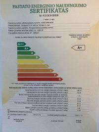 Gautas A+ klasės energinio naudingumo sertifikatas